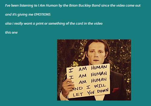 I am human quote